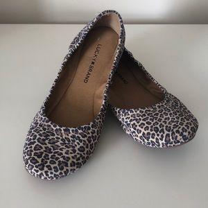 Lucky Brand 🍀 cheetah 🐆 flats